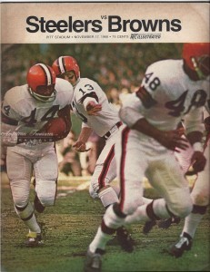 Steelers Program sold in Pittsburgh in 1968