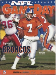 The hated John Elway is on the cover.
