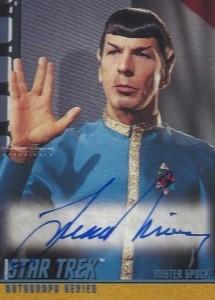 Leonard Nimoy 1998 Skybox Star Trek #A59 6 case incentive