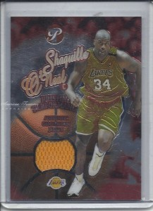 #PPE-SO 2003-04 Topps Pristine Performance Game Worn Lakers Jersey