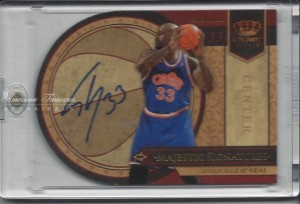 Shaquille O'Neal #SO 2010 Panini Crown Royale Majestic Signatures 14 of 25